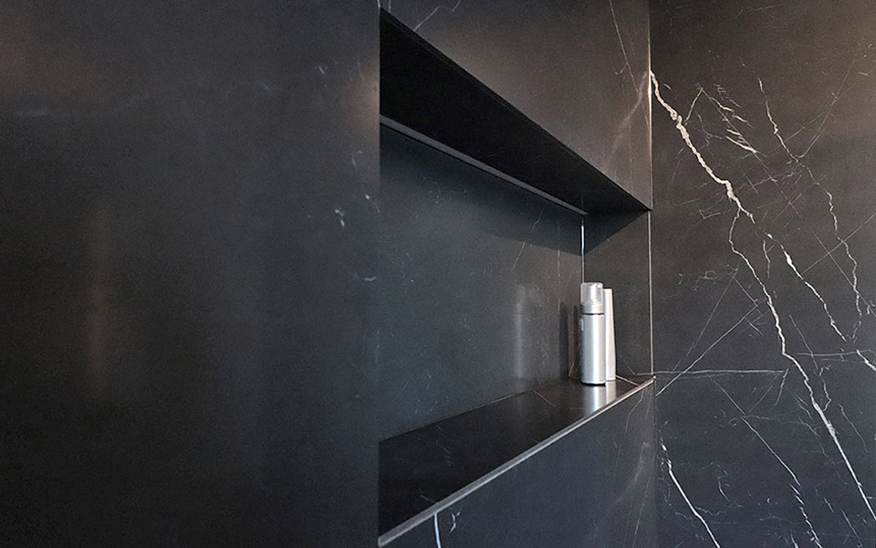 Dusch/Bad schwarzer Marmor
