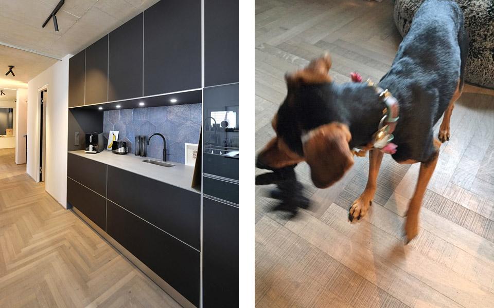 Projekt PB Küche, Parkettboden