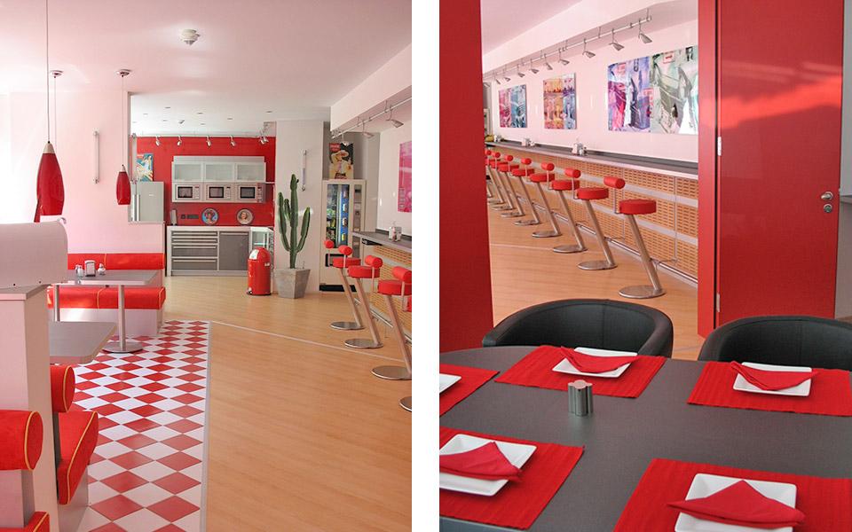 AIG Cafeteria Sitzmöglichkeiten